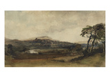 Middleham, Yorkshire (W/C over Graphite with Bodycolour on Paper) Giclee Print by Peter De Wint