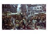 The Market of Verona, 1884 (Oil on Panel) Giclee Print by Adolph Friedrich Erdmann von Menzel