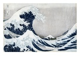 The Great Wave of Kanagawa, from the Series '36 Views of Mt. Fuji' ('Fugaku Sanjuokkei') Premium Giclee Print by Katsushika Hokusai
