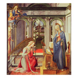 The Annunciation (Oil on Panel) Gicle-tryk af Fra Filippo Lippi