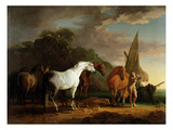 Gulliver Taking His Final Leave of the Land of the Houyhnhnms, c.1769 Premium Giclee Print by Sawrey Gilpin