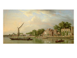 The Thames at Twickenham, 18th Century Giclee Print by Samuel Scott