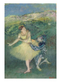 Harlequin and Colombine, C.1886-90 (Oil on Panel) Giclee Print by Edgar Degas