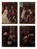 Four Different Racial Groups (Oil on Panel) Giclee Print by Andres De Islas