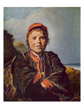 Fisher Boy (Oil on Canvas) Giclée-Druck von Frans Hals
