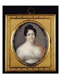 Mademoiselle Mars (1779-1847) 1819 (Oil on Ivory) Giclee Print by Jean Francois Strasbeaux
