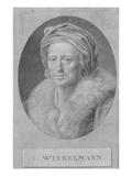 Johann Joachim Winckelmann (Engraving) Giclee Print by Anton von Maron