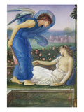 Cupid and Psyche, C.1865 (W/C, Bodycolour and Pastel on Paper Mounted on Linen) Giclee Print by Edward Burne-Jones