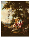 Jacob's Dream (Oil on Canvas) Giclée-tryk af Francesco Solimena