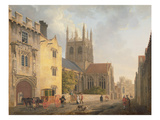 Merton College, Oxford, 1771 Giclee Print by Michael Rooker