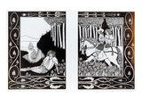 How King Mark and Sir Dinadan Heard Sir Palomides, Illustration from 'Le Morte D'Arthur' Giclee Print by Aubrey Beardsley
