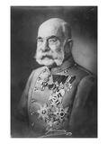 Emperor Franz Joseph I (B/W Photo) Giclee Print by  Austrian Photographer