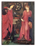 Fair Rosamund and Queen Eleanor (Mixed Media on Paper) Giclee Print by Sir Edward Burne-Jones