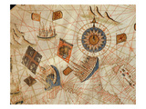The Maritime Cities of Genoa and Venice, from a Nautical Atlas of the Mediterranean and Middle East Giclee Print by  Calopodio da Candia