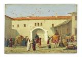 Caravanserai at Mylasa, Turkey, 1845 (Oil on Panel) Giclee Print by Richard Dadd