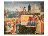 Saints Cosmas and Damian are Thrown into the Sea, Demons Escape from the Mouth of the Proconsul Giclee Print by  Fra Angelico