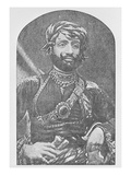 Muhammad Mahabat Khanji Ii, Nawab Sahib of Junagadh (B/W Photo) Giclee Print by  Indian photographer
