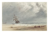 Storm over a Coast (W/C on Paper) Giclee Print by Giles Firman Phillips