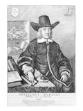 William Dugdale, 1656 (Engraving) Giclee Print by Wenceslaus Hollar