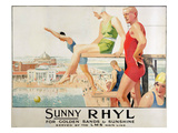 Poster Advertising Sunny Rhyl (Colour Litho) Giclee Print by Septimus Edwin Scott