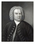 Portrait of Johann Sebastian Bach, German Composer (Engraving) Reproduction procédé giclée par Elias Gottleib Haussmann
