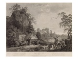Shooting, Plate 1, Engraved by William Woollett (1735-85) 1769 (Fifth State Engraving and Etching) Giclee Print by George Stubbs