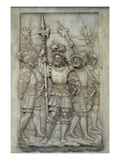 Halberdiers, Detail from the Tomb of Francois I and Claude De France, Commissioned in 1548 (Marble) Giclee Print by Pierre Bontemps