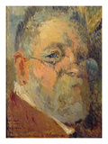 Self Portrait (Oil on Panel) Giclee Print by Albert-Charles Lebourg