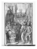 Life of Christ, Christ before Herod, Preparatory Study of Tapestry Cartoon Giclee Print by Henri Lerambert