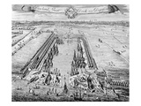 Howland Great Dock, Near Deptford, C.1715-20 (Engraving) Giclee Print by J. Badslade