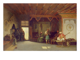 Interior of an Oriental Cafe (Oil on Panel) Giclee Print by Charles Theodore Frere