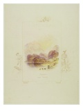 Design for an Illustration for Walter Scott's 'Lady of the Lake', Loch Achray Premium Giclee Print by J. M. W. Turner