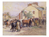 The Horse Fair (W/C and Pencil on Paper) Giclee Print by John Atkinson