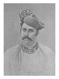 Maharaja Shivaji Rao Holkar of Indore (Engraving) Giclee Print by  English Photographer