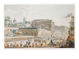 Antiquities Found at Herculaneum Being Transported to the Naples Museum, C.1782 Giclee Print by Louis Jean Desprez