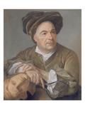 Louis Francois Roubiliac (1702-62) (Pastel on Paper Laid on Canvas) Giclee Print by Francois Vispre