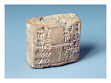 Tablet with Cuneiform Script, C.2000 BC (Baked Clay) Giclee Print by  Sumerian