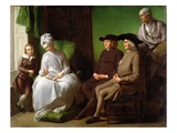 The Artist's Family Premium Giclee Print by Benjamin West