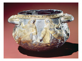 Drinking Cup Depicting Scythian Soldiers (Silver Gilt) Giclee Print by  Greek