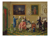 British Gentlemen at Sir Horace Mann's Home in Florence, c.1763-65 Giclee Print by Thomas Patch