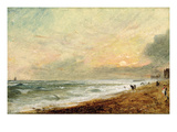 Hove Beach, C.1824 (Oil on Paper on Panel) Giclee Print by John Constable