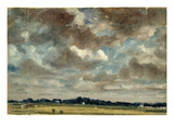 Extensive Landscape with Grey Clouds, C.1821 (Oil on Paper on Canvas) Giclee Print by John Constable