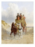 The Royal Mail Coach on the Road, 1841 (Oil on Panel) Giclee Print by John Frederick Herring Snr