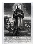 Saint Francois De Sales (1568-1622) (Engraving) (B/W Photo) Giclee Print by  French