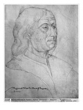 Ms 266 Fol.281 Philippe De Commines, from 'The Recueil D'Arras' (Red Chalk on Paper) Giclee Print by  Flemish