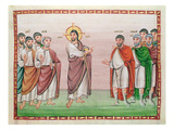 Ms. 24 Jesus and the Captain of Capernaum, from the Codex Egberti, C.980 (Vellum) Giclee Print by  Ottonian