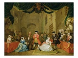 The Beggar's Opera, Scene Iii, Act Xi, 1729 Premium Giclee Print by William Hogarth