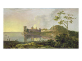 Summer Evening (Caernarvon Castle) C.1764-65 (Oil on Canvas) Reproduction procédé giclée par Richard Wilson