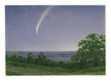 Donati's Comet, Oxford, 7.30Pm, 5th October 1858 (W/C and Bodycolour over Graphite on Paper) Giclee Print by William Turner