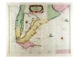 America, Plate 17 from 'Le Nouveau Et Grand Illuminant Flambeau De La Mer' Giclee Print by Hendrick Doncker